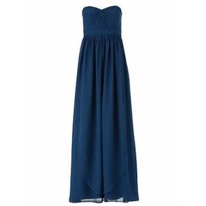 Jenny Yoo Aidan Convertible Chiffon Navy Dress